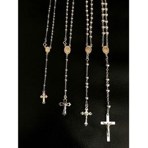Harlembling 925 Sterling Silver Rosary Beads Chain